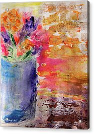 Acrylic Print featuring the mixed media Mixed Bouquet by Lisa McKinney