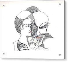 Mixed Identities Acrylic Print by Padamvir Singh