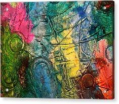 Mixed Media 11 By Rafi Talby Acrylic Print by Rafi Talby