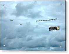 Mixed Message - South Beach Miami Acrylic Print