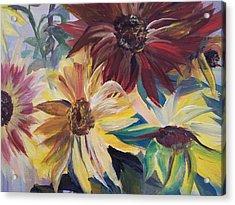 Mixed Sunflowers Acrylic Print