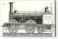 Mixed Traffic Locomotive Acrylic Print by English School