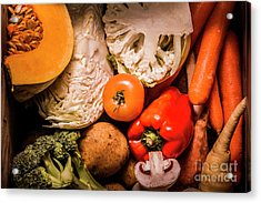 Mixed Vegetable Produce Pack Acrylic Print by Jorgo Photography - Wall Art Gallery