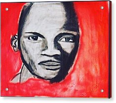 MJ Acrylic Print by James Mcclue