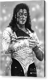 Mj Preps For The Show Acrylic Print