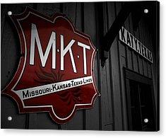 Mkt Railroad Lines Acrylic Print