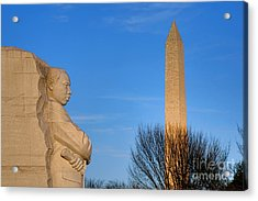 Mlk And Washington Monuments Acrylic Print by Olivier Le Queinec