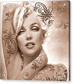 Mm 127 Deco Sepia Acrylic Print