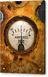 Mm Amperes Gauge Acrylic Print