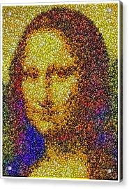Acrylic Print featuring the mixed media Mm Candies Mona Lisa by Paul Van Scott