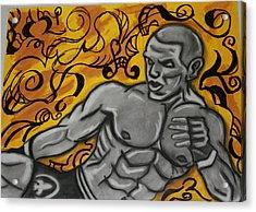 Mma Fighter Acrylic Print by Jasmine Harris