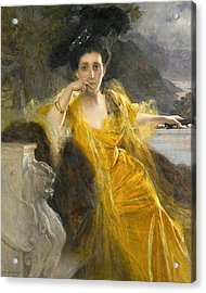 Mme Marie-louise Fould Nee Heine Acrylic Print