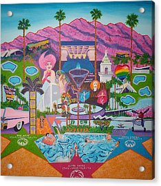mmmm... Palm Springs Acrylic Print by Randall Weidner