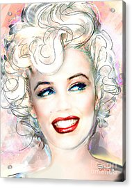Mmother Of Pearl P Acrylic Print by Theo Danella
