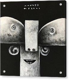 Mmxvii Masks For Despair No 4  Acrylic Print by Mark M Mellon