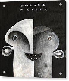 Mmxvii Masks For Despair No 7 Acrylic Print by Mark M Mellon