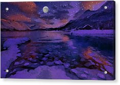 Mnon Over The Frozen Lands Acrylic Print