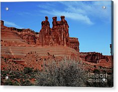 Acrylic Print featuring the photograph Moab by Edward R Wisell