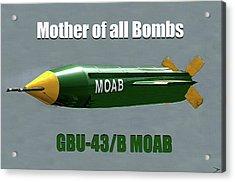 Acrylic Print featuring the painting Moab Gbu-43/b by David Lee Thompson