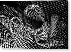 Mobious 25 Monochrome Acrylic Print by Bob Christopher