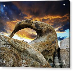 Acrylic Print featuring the photograph Mobious Arch California 7 by Bob Christopher