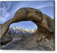 Mobius Arch And Lone Pine Mt. Acrylic Print