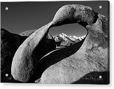 Mobius Arch Black And White Acrylic Print by Peter McCracken
