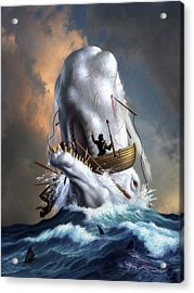 Moby Dick 1 Acrylic Print by Jerry LoFaro