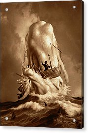 Moby Dick 2 Acrylic Print by Jerry LoFaro