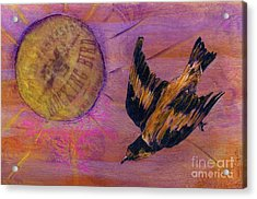 Acrylic Print featuring the mixed media Mockingbird by Desiree Paquette
