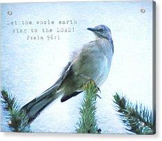 Mockingbird Scripture Acrylic Print