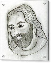 Mod Jesus Acrylic Print by Sonya Chalmers