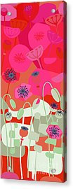 Mod Red Poppies Acrylic Print
