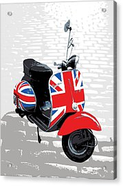 Mod Scooter Pop Art Acrylic Print by Michael Tompsett
