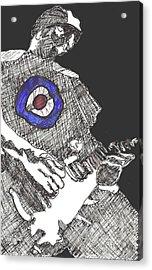 Mod Target Acrylic Print by David Fossaceca