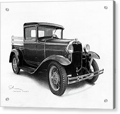 Model A Acrylic Print by Christopher Bracken