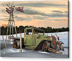 Acrylic Print featuring the digital art Model A Flatbed by Stuart Swartz