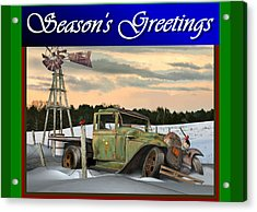 Acrylic Print featuring the digital art Model A Season's Greetings by Stuart Swartz