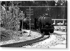 Model Locomotive Acrylic Print by Debra Forand