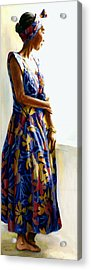 Model Repose II Acrylic Print by Carolyn Epperly