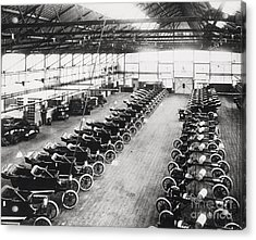 Model T Ford Factory Acrylic Print by English School