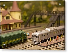 Acrylic Print featuring the photograph Model Trains by Patrice Zinck