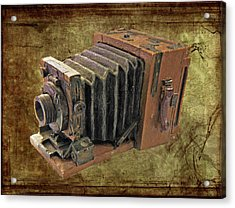 Model Vintage Field Camera Acrylic Print by Kenneth William Caleno