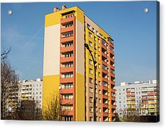 Acrylic Print featuring the photograph Modern Apartment Buildings by Juli Scalzi