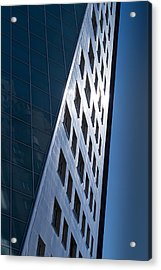 Acrylic Print featuring the photograph Blue Modern Apartment Building by John Williams