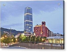 Modern Architecture Bilbao Spain Acrylic Print by Marek Stepan