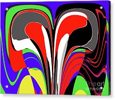 Modern Art Acrylic Print by Methune Hively