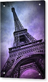 Modern Art Paris Eiffel Tower  Acrylic Print by Melanie Viola