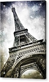 Modern-art Paris Eiffel Tower Splashes Acrylic Print by Melanie Viola