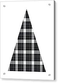Modern Black And White Tree 3- Art By Linda Woods Acrylic Print
